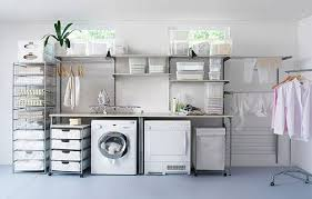 Decorated Laundry Rooms Modern Laundry Room Storage Ideas Organizing Laundry Room