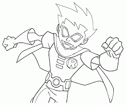 teen titans robin coloring pages kids coloring