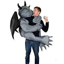Lab Rats Halloween Costume Inflatable Gargoyle Fancy Dress Blow Party Cosplay Costume