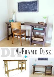 build a diy a frame desk with the free building plans and picture