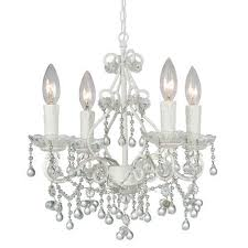 White Chandeliers White Mini Chandeliers Bellacor