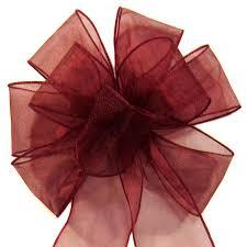 burgundy wired ribbon bows wired sheer chiffon bows burgundy
