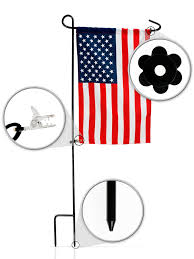 Flag Stakes Amazon Com Garden Flag Set With American Flag By Greenwer Sturdy