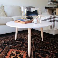 pre turned table legs build a danish modern coffee table in no time using a repurposed