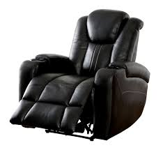 Recliner With Cup Holder Zaurak Dark Gray Leatherette Recliner W Cup Holders U0026 Storage
