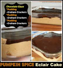 pumpkin spice eclair cake w chocolate frosting no bake eat at home