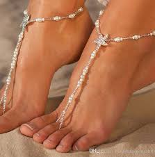 starfish barefoot sandals starfish beaded barefoot sandals anklets wedding foot