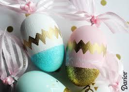 glitter easter egg ornaments painted eggs tutorial easter egg ornaments darice