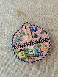charleston ornament canvas design by silver needle