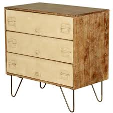 Wood 3 Drawer File Cabinet by Mango Wood U0026 Iron File Cabinet 3 Drawer Dresser