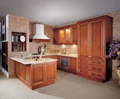 China Maple Solid Wood Kitchen Cabinets Design Traditional - American kitchen cabinets