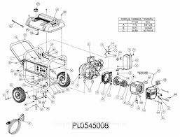 powermate formerly coleman pm0538000 parts diagrams for generator