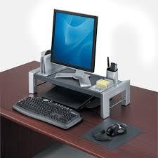 rehausseur ordinateur bureau support d écran d ordinateur design noir ou blanc vilacosy