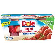 dole fruit bowls dole sliced strawberries fruit bowls 2ct walmart