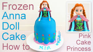 cake how to frozen cake doll cake how to by pink cake princess