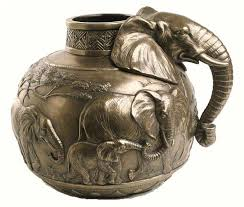 African Vases Elephant Vase Cold Cast Bronze By Spirit Of Africa Cold Cast