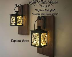 Wall Sconce Set Of 2 Rustic Wall Sconce Etsy