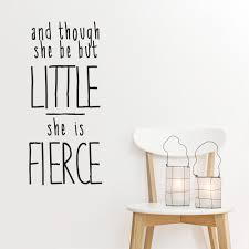 she is fierce wall quote decal