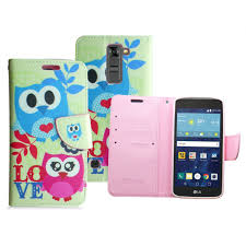 lg tribute 5 k7 escape 3 spring owl love leather wallet case