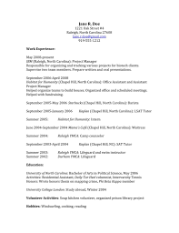 College Graduate Resume Example Alluring Sample Resume For A College Student And Free Activities