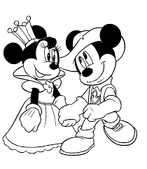 mickey mouse and minnie mouse drawings colouring pages coloring page