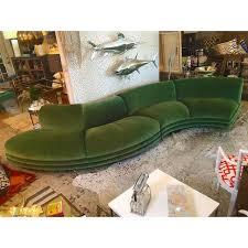 s shaped couch bernhardt custom s shaped moss green velvet sofa chairish