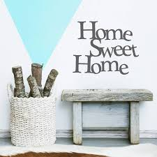 home sweet home vinyl wall sticker by oakdene designs home sweet home vinyl wall sticker