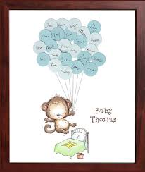 sign in guest book baby shower sign in guest book print monkey jumping on the bed