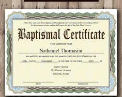 baptism certificate etsy
