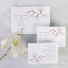 free invitation cards simple brown ginkgo wedding invitations ewi228 as low as 0 94