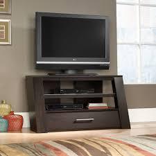 Dark Wooden Tv Stands Furniture Dark Brown Wooden Tv Stand With Media Open Shelf And