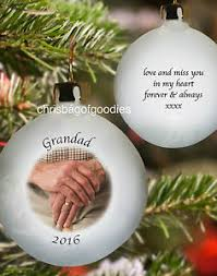 in memory of gifts personalised personalised photo memorial christmas bauble remembrance in loving