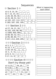free worksheets sequences worksheets year 5 free math