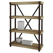 amazon com e ready emery four shelf bookcase 44 inch reclaimed