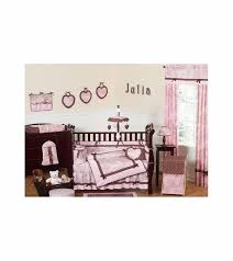 Jojo Crib Bedding Sweet Jojo Designs Pink Brown Toile 9 Crib Bedding Set