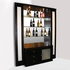 Glass Bar Cabinet Designs Funiture Glamorous Home Bar Cabinet Designs With Black Color And