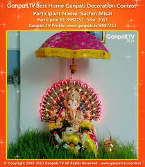 Home Ganpati Decoration Sachin Misal Ganpati Tv