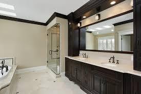 bathroom white cabinets dark floor bathrooms dark cabinets