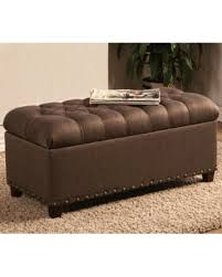 storage ottoman bench brown spring savings on tosin nailhead tufted storage ottoman bench