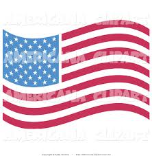 Blue Flag With Stars Americana Vector Clip Art Of An American Flag With White Stars