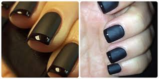 matte nail polish diy tutorial french manicure stylediary
