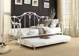 White Metal Daybed With Trundle Homelegance White Metal Daybed With Trundle 4961db Nt