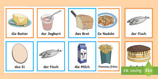 food items matching cards german food essen german mfl