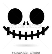 scary halloween clipart black and clipart vector of scary halloween ghost or pumpkin face vector