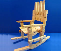 Mini Rocking Chair Clothespin Rocking Chair So Easy To Make
