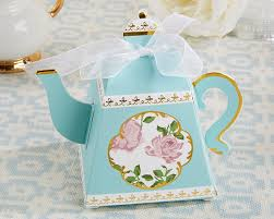 favor boxes tea time whimsy teapot favor box set of 24 kate aspen