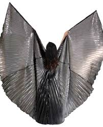 wings belly costume prop closed back in hematite