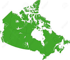 Canada Map by Green Canada Map With Provinces And Capital Cities Royalty Free