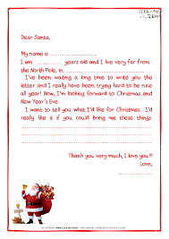 letter to santa claus template more text santa claus 15