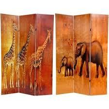 Zebra Room Divider Handmade Canvas Double Sided Elephant Zebra Room Divider China